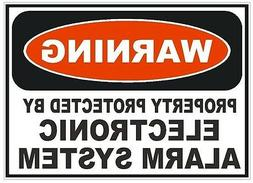 Electronic Alarm System Sticker Home Work Safety Business Si