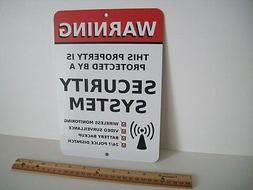 "Home Security Alarm System 7"" x 10""  Metal Yard Sign - Stock"