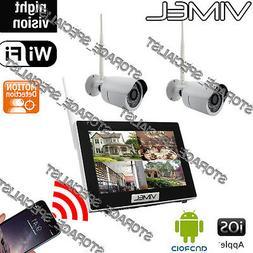 Home Security System IP Cameras Alarm House Farm Night Visio