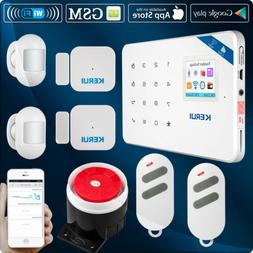 KERUI W18 Wireless GSM Wifi Home Security Alarm System,Mini