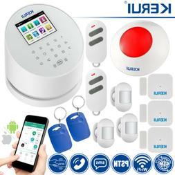KERUI W2 GSM PSTN Wifi SMS RFID Home Alarm System,Mini PIR S