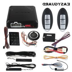 Keyless go PKE car alarm system with shock sensor remote eng