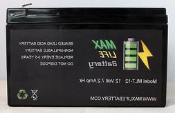 Max Life Battery - 12V 7Ah Home Alarm System Back Up Replace