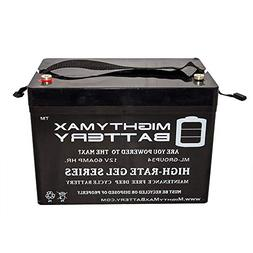 Mighty Max 12V 60AH Group 34 Replacement Battery For Alarm S