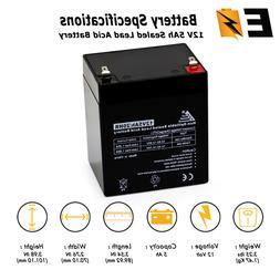 NEW! ExpertBattery 12V 5AH Alarm Security System Battery 12