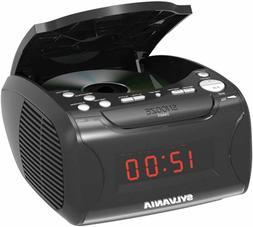 New Sylvania Alarm Clock AM/FM Radio CD Player USB Charger A