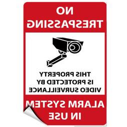No Trespassing Protected By Video Surveillance Alarm System