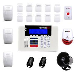 PiSector 4G Cellular GSM Wireless Security Alarm System Quad