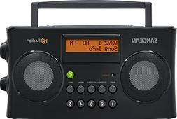 Portable Stereo Radio FM AM LCD Screen Time Alarm Clock Date