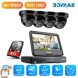 SANNCE 1080N 10.1in Monitor 4CH DVR 1080P IR Security Camera