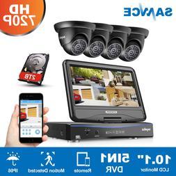 SANNCE 1080N LCD Monitor 4CH DVR 1500TVL IR Security Camera