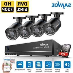 SANNCE 720P In/Outdoor Security Camera System 4CH 1080N CCTV