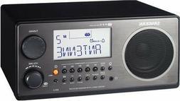 Sangean Shelf Wood Cabinet Rich Bass Stereo Speaker RDS Syst