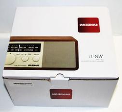 Sangean WR-11 Wood Cabinet AM/FM Table Top Analog Radio