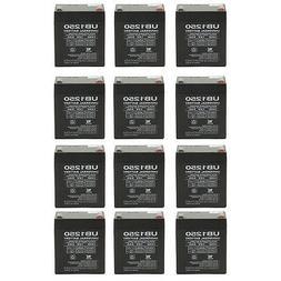 UPG 12 Pack - 12V 5AH Alarm Security System Battery NEW! 12