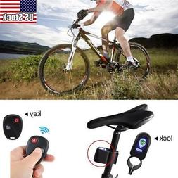 Wireless Alarm Lock Bicycle Bike Security System With Remote