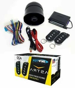 ScyTek A20 Keyless Entry Car Alarm Security System w/ 2 Chro