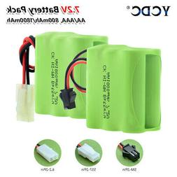 AA AAA RECHARGEABLE NI-MH BATTERY PACK 7.2V WITH PLUG FOR RC