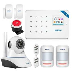 Alarm System Wireless WiFi GSM Android iOS APP Control IP Ca