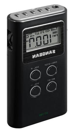 Am/Fm Stereo Pocket Radio Digital Tuning Auto-Seek Lcd Disp