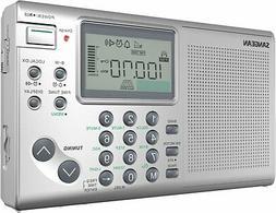 Sangean ATS-405 World Receivers FM-Stereo/MW/SW Radio, Silve