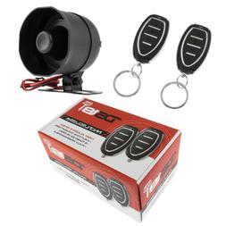 Car Alarm Security System Shock Sensor, 2 Remote Controls Ke