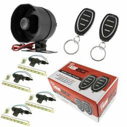 Car Alarm Security System Shock Sensor, Keyless Entry 4 Door