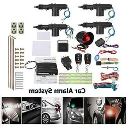 Car Security Alarm System Keyless Entry 4 Door Power Lock  A