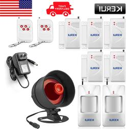 cheap wireless burglar alarm system local siren