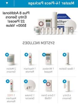 SimpliSafe Complete Home Security Alarm System SSCS2 Wireles