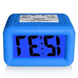 iCKER Large Display Smart Light Alarm Clock with Rubber Case