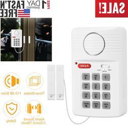 Door Window Alarm Security System Home Wireless Cordless Bat