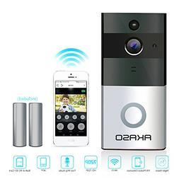 AKASO Video Doorbell, Smart Doorbell 720P HD Wifi Security C