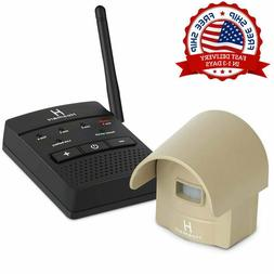 Wireless Driveway Alarm & Alert System 1/2 Mile Security Mot