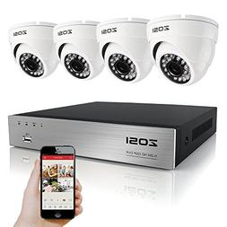 ZOSI Security Cameras System 8CH 1080P DVR Recorder and  HD