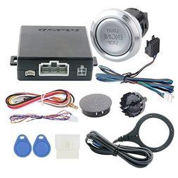 EASYGUARD EC008-P3 RFID car Alarm Push Start Button & keyles