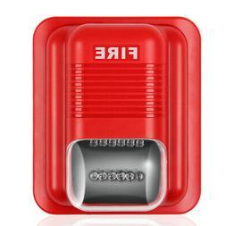 Fire Alarm Horn Strobe Quick Alert Safety Systems Sensor 24V