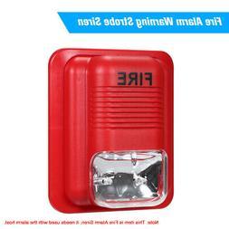 Fire Alarm Warning Strobe Siren Horn Sound & Strobe Alert Se