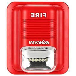 OWSOO Fire Alarm Siren Alarm Siren Horn Strobe Alert Securit