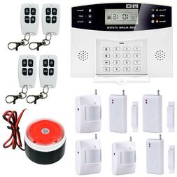 GSM 108 Zones Wireless & Wired Voice Home Alarm Security Sys