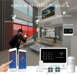 GSM WiFi GPRS alarm system Alarm Host with LCD touch screen