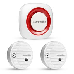 GSM Wireless Fire Alarm System Smoke Detector Alarm SMS & Ca