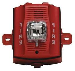 Outdoor H/S, Wall, 2-Wire, Std Candela, Red