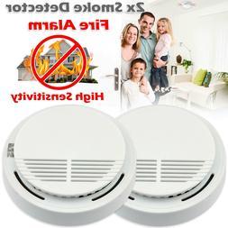 High Detective 2 X Home Smoke Detector Fire Alarm Battery Op