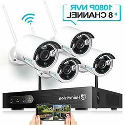 HeimVision HM241 Wireless Security Camera System, 8CH 1080P