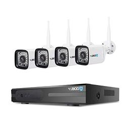 Hodely 8 Channel 720P TVL 36-LED 60-Degree View Angle WiFi W