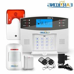 Home Security GSM Alarm System Wired & Wireless 433MHz Detec