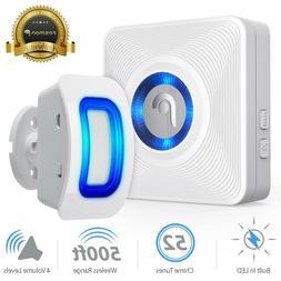 Home Security Wireless Driveway Alarm Doorbell Outdoor Motio