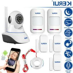 KERUI Indoor Home Security Alarm System 720P IP Camera With