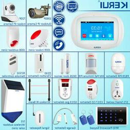 KERUI K52 WiFi GSM SMS Wireless Touch Screen Home Security A